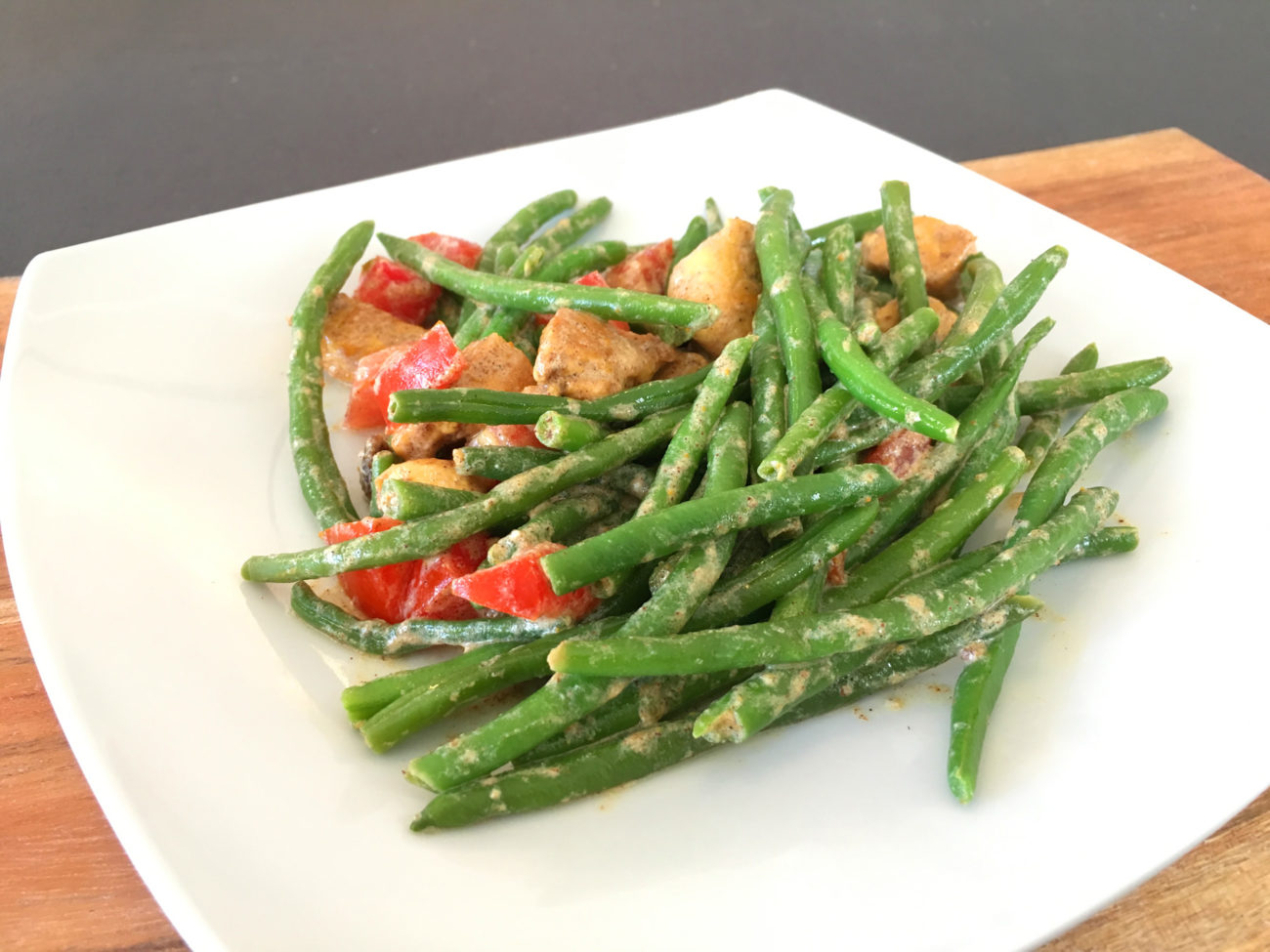 Salade haricots verts – poulet